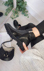 Luna Zipped Patent Studded Ankle Boots Thumbnail