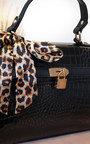 Lyana Croc Print Handbag Thumbnail