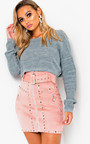 Lydia Zip Up Studded Skirt  Thumbnail