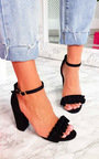 Lyla Barely There Frill Block Heels Thumbnail