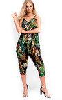 Lyla Harem Stretch Tropical Jumpsuit Thumbnail