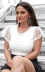 Lyla Polka Dot Frilled Sleeve Top Thumbnail
