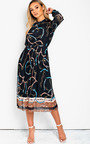 Lyla Printed Midi Dress Thumbnail