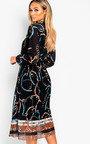 Lyla Printed Midi Dress Thumbnail