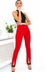 Lyra High Waist Split Front Trousers Thumbnail