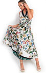 Macey Satin Floral Maxi Dress Thumbnail
