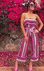 Madison Bandeau Striped Wide Leg Jumpsuit  Thumbnail