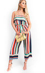Madison Multi Colour Striped Wide Leg Jumpsuit  Thumbnail