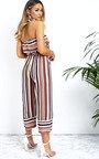 Madison Striped Bandeau Wide Leg Jumpsuit  Thumbnail