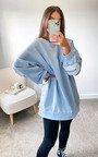 Mae Slogan Sweat Jumper Dress  Thumbnail
