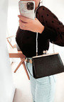 Maggie Croc Print Shoulder Bag Thumbnail