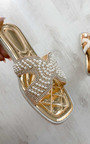 Maggie Pearl Embellished Slip On Sandals Thumbnail