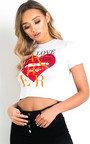 Maisie Love Slogan Crop Top Thumbnail