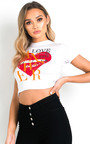 Maisie Love Slogan Crop Top Thumbnail