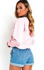Maisie Oversized Slogan Sweatshirt Top Thumbnail