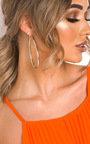 Malina Pear Drop Hoop Earrings  Thumbnail