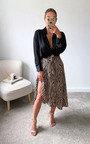 Mallory Printed Split Hem Midi Skirt Thumbnail