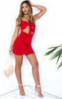 Mandy Frill Hem Tie Front Mini Dress Thumbnail