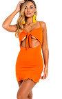 Mandy Frill Hem Tie Front Mini Dress Thumbnail