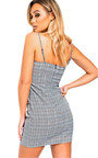 Margot Checked Mini Dress Thumbnail