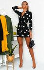 Margot Printed Wrap Mini Dress Thumbnail