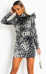 Maria Belted Puff Sleeve Mini Dress Thumbnail