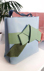 Maria Colour Block Bow Tote Handbag Thumbnail