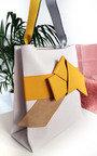 Maria Colour Block Bow Tote Handbag Thumbnail
