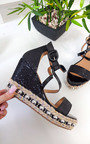 Maria Studded Crossover Wedged Heel Thumbnail