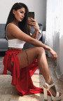 Marisa Wide Leg Tie Split Trousers Thumbnail