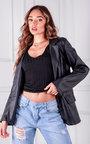 Marta Faux Leather Blazer Thumbnail