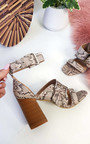 Martha Buckle Block Heels Thumbnail