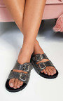 Marti Diamante Embellished Buckle Sliders Thumbnail