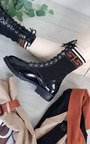May Patent Lace Up Boots Thumbnail