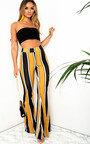 Maya High Waist Stripe Wide Leg Trousers Thumbnail