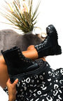 Mayah Lace Up Studded Boots Thumbnail