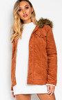 Mayne Faux Fur Hooded Cord Jacket  Thumbnail