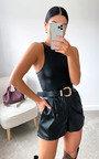 Lauren Faux Leather Bodysuit Thumbnail