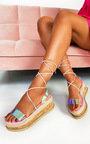 Mel Iridescent Flatform Sandals Thumbnail