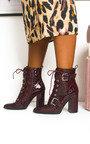 Melanie Buckle Heeled Boots  Thumbnail