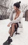 Melanie Faux Fur Lace Up Studded Boots Thumbnail