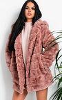 Melisa Faux Fur Coat Thumbnail