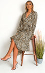 Melly Animal Print Maxi Dress Thumbnail