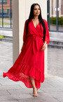 Melody Belted Frill Maxi Dress Thumbnail
