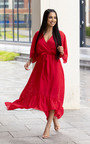 Melody Belted Frill Maxi Dress Thumbnail