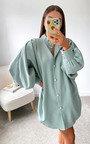 Meredith Puff Sleeve Shirt Dress Thumbnail