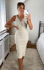 Mhairi Lace Up Knitted Midi Dress Thumbnail