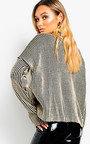 Mhari Oversized Polo Neck Knitted Jumper Thumbnail