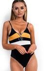 Mia Stripe Zip Front Bodysuit Thumbnail