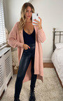 Mia Tie Front Long Length Cardigan Thumbnail